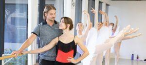 Artistic directors Artem Yachmennikov and Ekaterina Vaganova-Yachmennikova and their pupils