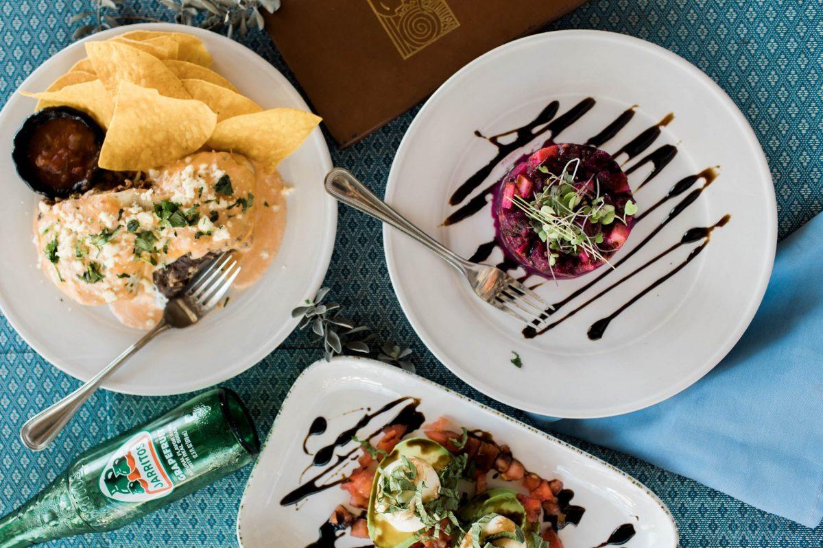 Nomad Cafe Roasted Beets, Signature Nomad Burrito, Avocado Caprese