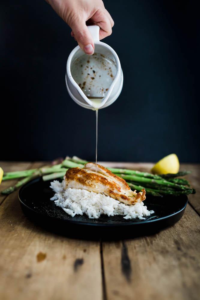 Lemon Brown Butter Chicken & Rice