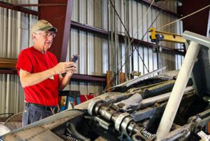 Jim Bouck uses smartphone technology
