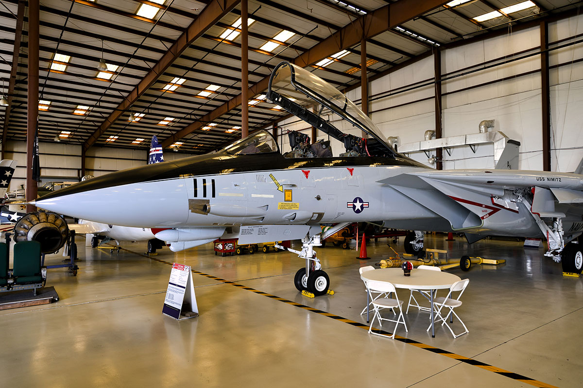 A Grumman F-14 Tomcat from the USS Nimitz