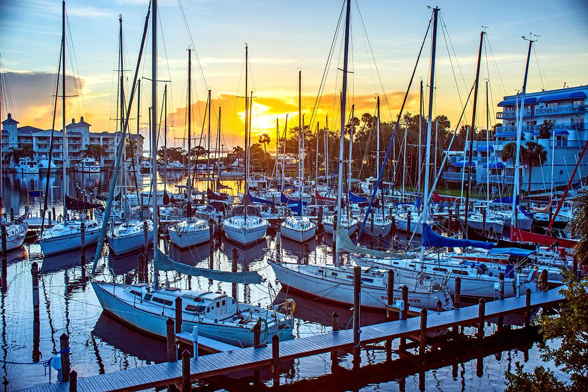 Sunrise greets about 40 MYC boats