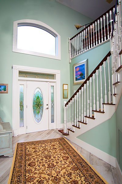 interior double-height entry way