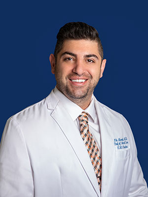 Dr. Nik Moradi, medical director of Critical Care and Pulmonology at Melbourne Regional Medical Center