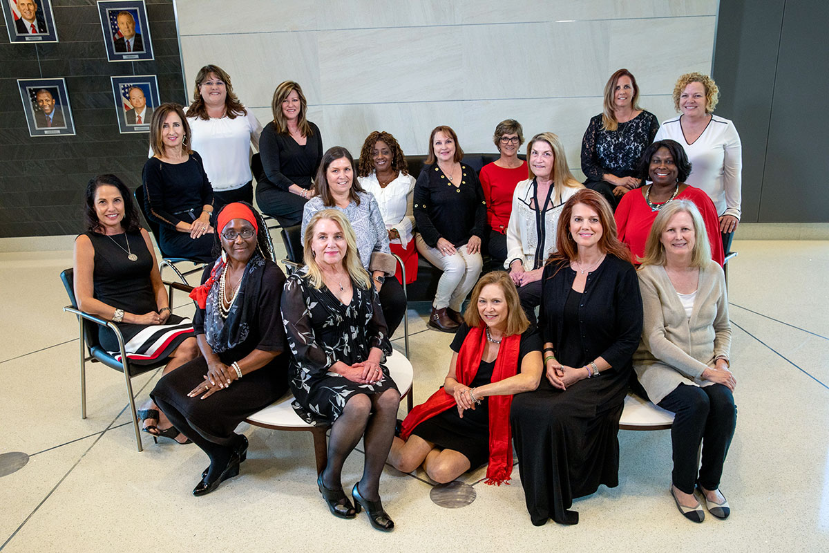 Senior managers at Kennedy Space Center gather to commemorate Women's History Month in 2020