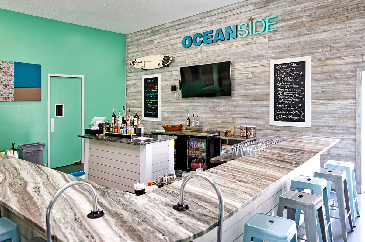 Oceanside Distillery's spacious bar
